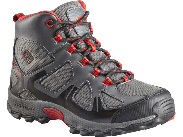 Columbia Peakfreak XCRSN WP Zapatillas Niños, city grey/bright red